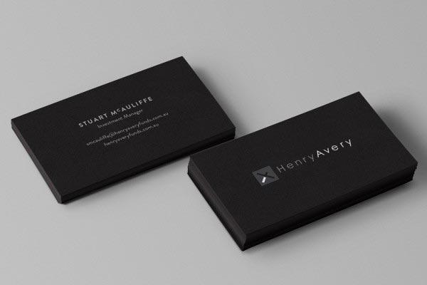 Henry Avery Business cards