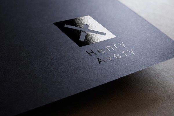 Herny Avery Foil Logo Design