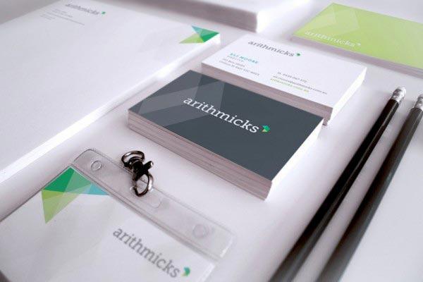 Arithmicks Stationery Graphic Design Brisbane